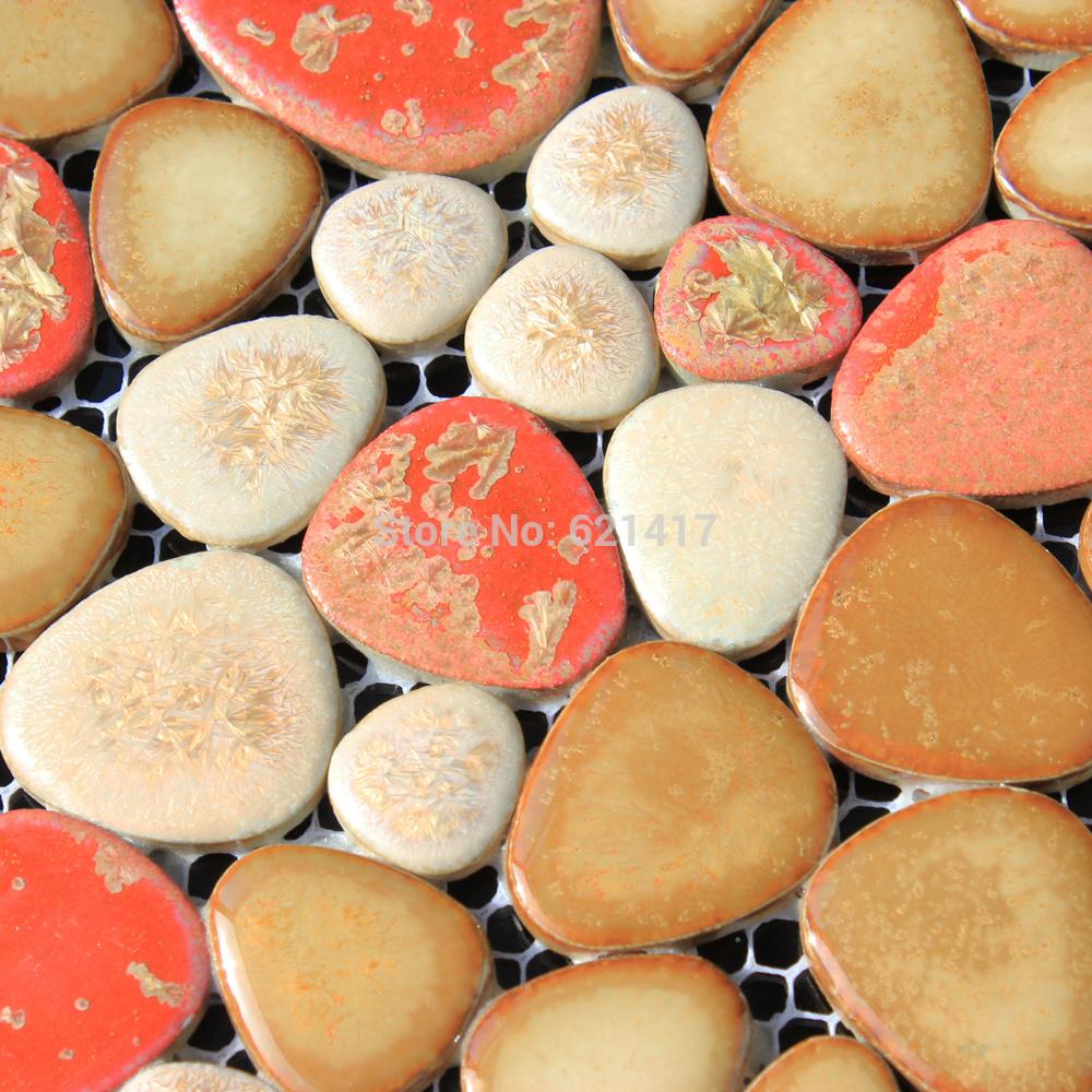 Online kopen wholesale roze tegelvloer uit china roze tegelvloer groothandel - Rode mozaiek tegel ...