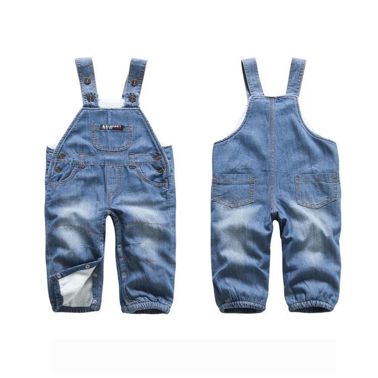 2014 fleece warm baby jeans casual boys denim overalls. Black Bedroom Furniture Sets. Home Design Ideas