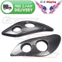 for 06-07 Subaru Impreza WRX STi 9th IX Real Carbon Fiber Headlight Lamp Covers Eyelids