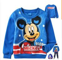 2014 autunm children tshirt kids cotton long sleeve cartoon tshirt boy top top wear 4pcs/lot