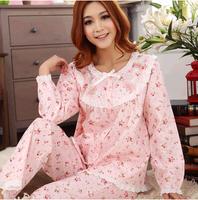 Autumn and winter Flannel fleece sleepwear nightgown long-sleeve nightgown socks twinset Women,Free shipping