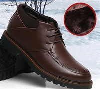 Special offer,2014 new men's leisure fur shoes.men's genuine leather snow boots,free shipping,OKC053