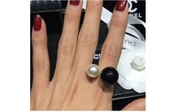 CShine Jewelry New Arrival 2014 Fashion High quality ring Elegant Colored Double Pearls Ring Lovey Glory asymmetry Pearl