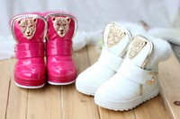 Free shipping 2014 New winter Children's snow boots kids tiger head girls boots 3 color size 28-32