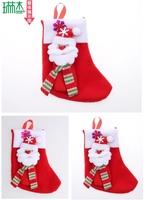 16CM Christmas Stocking Christmas tree ornaments Christmas ornaments (multi pattern random delivery)