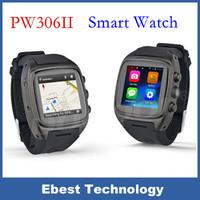 "PW306II Android Smart phone watch1.54"" screem MTK 1.3G Dual core 512M 4G 3G WCDMA GSM GPS WIFI 5.0M camera Bluetooth phone watch"
