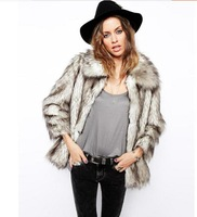 W.ZXS - Hot-Selling 2014 New Winter Women Faux Fox Fur Coat Slim Brand Full Sleeve Turn-down Collar Warmth Fur Jacket JP05
