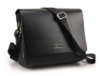 2014 Free Shipping Fashion Men Casual PU Leather Messenger Bag Business Leisure Shoulder Bag Handbag Briefcase Brown Black BG087