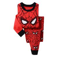 Spiderman Boys Girls Pajamas Children Superman Cartoon Pyjamas Kids Cars Sleepwears Wholesale 6sets/Lot In Stock Free Shipping