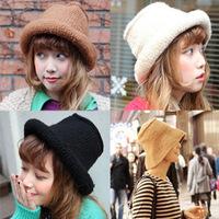 The new autumn and winter 2015 Beautiful chic hat tide models warm Beautiful fisherman knit wool cap wholesale hat female