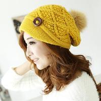 2015 new Beautiful female winter wool hat knitted hat tide Korea thick warm winter hat women hat cap