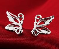 925 sterling silver butterfly earrings cute female ear jewelry hypoallergenic silver wings