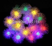 rgb/blanco 80 edelweiss 10m led bolas de cadena de vacaciones fiesta de navidad luces de colores de la boda dormitorio paisaje decoración iluminación(China (Mainland))