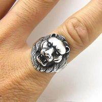 Wonderful Tribal Tibet silver carved lion fashion ring / Free Shiping