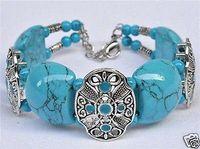 Tibetan style Tibet Silver Turquoise Bangle Jewelry Bracelet  / Free Shipping