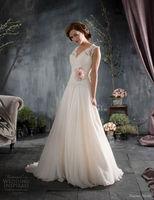 2014 New Backless White ivory lace wedding dress custom size 6 8 10 12 14 16++