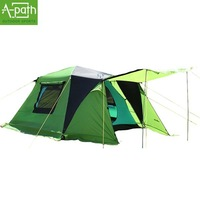 2014 New Arrival  Outdoor 3-4 person Windproof Waterproof 3000 mm automatic tents Double large camping marquee family tent