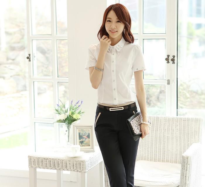 Dress Pants With Short Sleeve Shirt Suit Short-sleeve Shirt ol