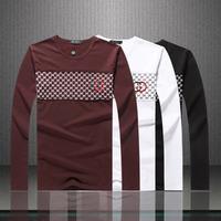 2014 New Arrive  Men Long Sleeve O Neck  Black  White T Shirt  Mr.  Fashion Brand Cotton M L XL XXL t Shirt 8605