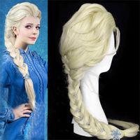 Frozen Snow Wig Elsa Anna Children Wig Kanekalon Fiber no lace Hair wigs Free shipping