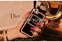 Fashion Perfume Bottles Diamond Case for iphone 6 4.7 for iphone6 plus 5.5  Scent TPU bag case with retail package FREE SHIPPING