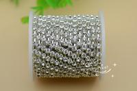 Free shipment Fashion handicrafts 3.7mm Crystal Fancy Dress   rhinestone chain silver for sewing on