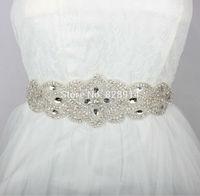 New Luxury Europe Style Rhinestones Bridal Sashes Handmade Wedding Dress Belt Made of Beaded Trims