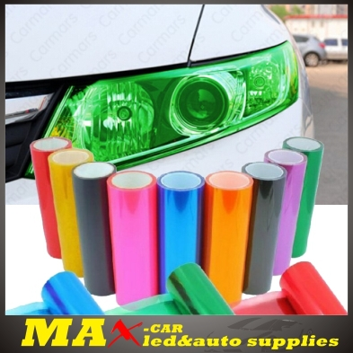 Hot Sale 2014 Car styling 30cm*1m Translucent Auto Film PVC Sticker For Head Light Tail Lights 12 Color Real High Quality(China (Mainland))