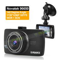 2014 New D102 Car Camera DVR Video Recorder 1296P Novatek 96650 140 Degree Wide Angle WDR SOS Car Plate Stamp Parking Guard OT30