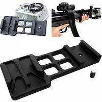 Black Camera Picatinny Weaver Gun Guide Rail Mount Side for Gopro hero  2 3 3 plus