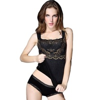 Womens Thicken Shapewear  winter warm vest Jacquard Thermal Underwear  Body Shaper Slimming For Girls Free shipping