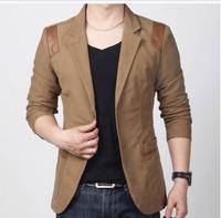 069 1P 2014 Blazer Men Autumn And Winter British Fashion Leisure Suit Slim Small Suit Jacket Men  Plus Size Men Jacket Slim Fit