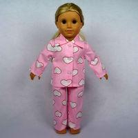 "Free shipping!! Doll Clothes For 18"" American Girl Dolls, Pajamas, 2pcs, girl birthday present,  gift, B02"