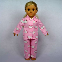 "Free shipping!! Doll Clothes For 18"" American Girl Dolls, Pajamas, 2pcs, girl birthday present,  gift, B02"