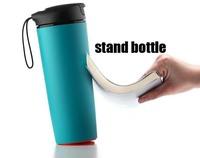 Artiart suction mug,Daruma bottle,Creative tumbler,Heat insulation cup , Automotive bottle, 1pcs free ship