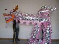 10m Length Size 3 pink silver on body   Chinese DRAGON DANCE ORIGINAL Dragon Chinese Folk Festival Celebration Costume
