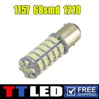 1pcs/lot 1156 1157 bulb bay15s led 1210 led bulb 1157 bay15d 68SMD 68 smd led turn parking Brake light stop tail light #TF09