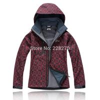 8&Free Shipping 2014 Womens Waterproof Breathable Softshell Outdoor Jackets Hiking Golf Cycling Windbreaker