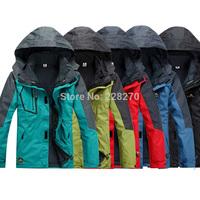 8&autumn winter New fund Hiking Waterproof, breathable Outdoor, mountain hiking, man jacket coat lining hood