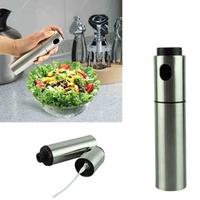 Cooking Stainless Steel Olive Oil Mist Sprayer Can Pot Jar Spraying Pump Bottle