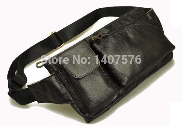 BG black luxury high quality men messenger bags genuine leather teenagers crossbody bags korean punk Outdoor leisure Waist Bag(China (Mainland))