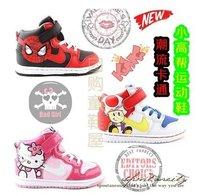 Size26-33 Spring And Autumn Cartoon Spider Man KITTY High Help Children Sports Shoes 568