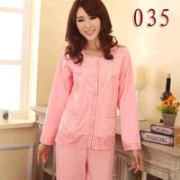2014 spring 100% cotton sleepwear long-sleeve Women casual sleepwear plus size lounge set xxxxl