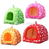 NEW Wholesale 1PCS Soft Sponge Pet Dog Cat Bed Houses strawberry bones print design  Lovely Warm Doggy Kennel,Free shipping.