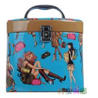 Fashion Korea Large Capacity Cosmetic Cases Variety Girl Brand Waterproof Cosmetic Bag Cute Vintage Makeup Bag