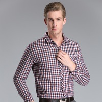 2014 New Men's Winter Dress Men Warm Long Sleeve Shirt Plus Plaid Thick with Velvet Warm Shirt roupa de homem
