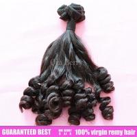 Super Unprocessed Aunty Funmi Hair for UK/Nigeria Bouncy Curl Natural Color 3bundles/lot Double Drawn Virgin Hair Free Ship