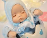Pink Blue Ceramic Originality Birthday Gift  Rocking Baby Music Box