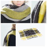 2 colors Women Blanket Oversized Tartan Scarf Wrap Shawl Plaid Cozy Checked