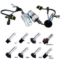 2pcs 12V HID Xenon Replacement 35W bulbs 9006 9005 H1 H3 H7 H8/H9/H10 H11 880/881 4300K 6000K 8000K 10000K Headlight Fog Light
